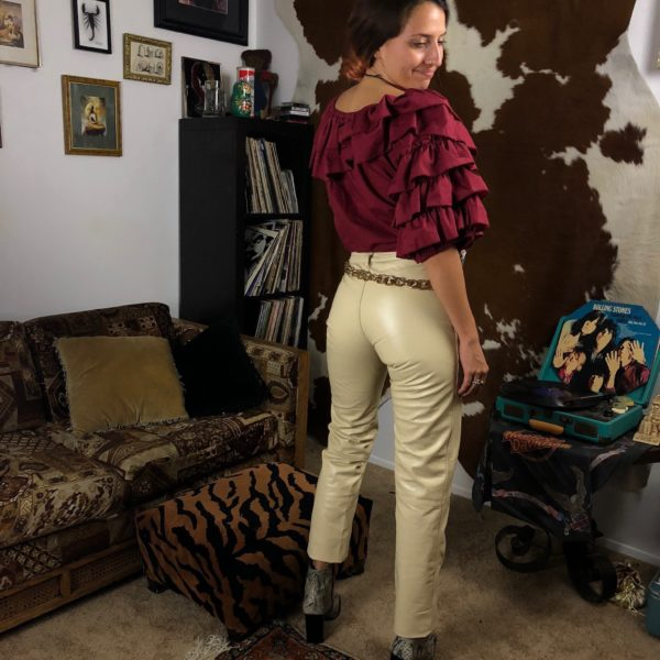 wilsons leather white pants