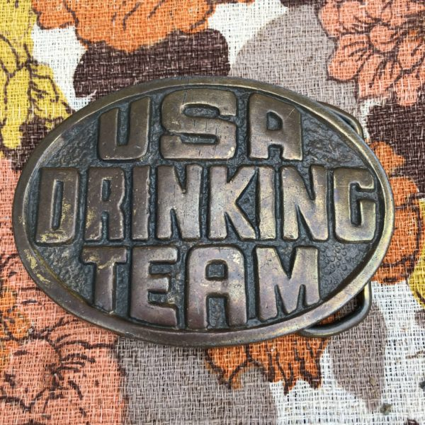 USA Drinking Team Buckle