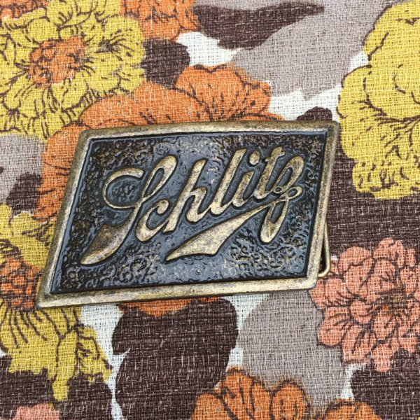 Schlitz beer belt buckle
