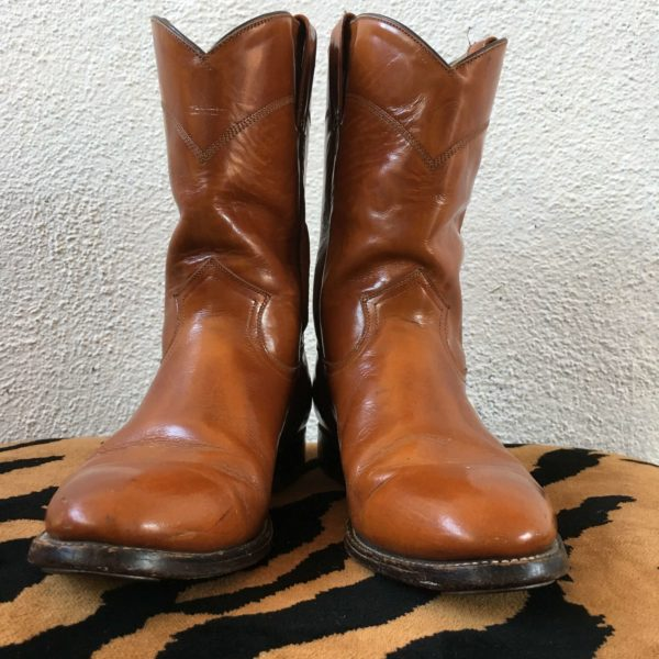 Tan Leather Cowboy Boots 8.5 Mens'