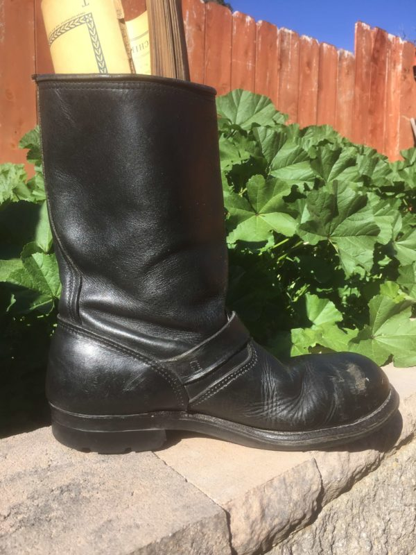 Black Leather Harley Davidson Biker Boots