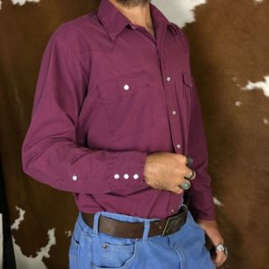 saddle king purple western shirt pearl snaps