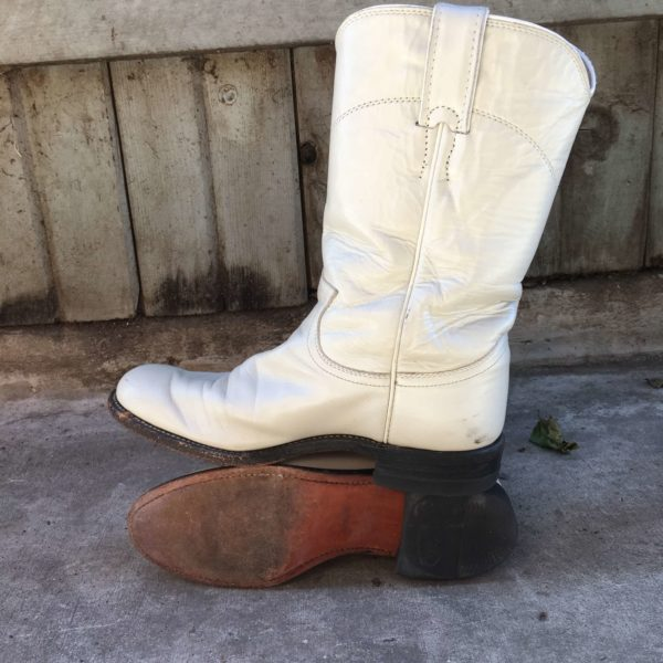 White Cowgirl Boots Size 5 Women's
