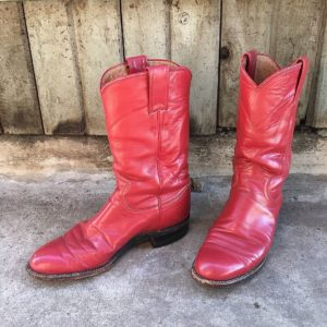Red Leather Cowgirl Boots size 5 women's