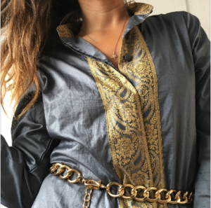 Etchnic tunic gold and gray