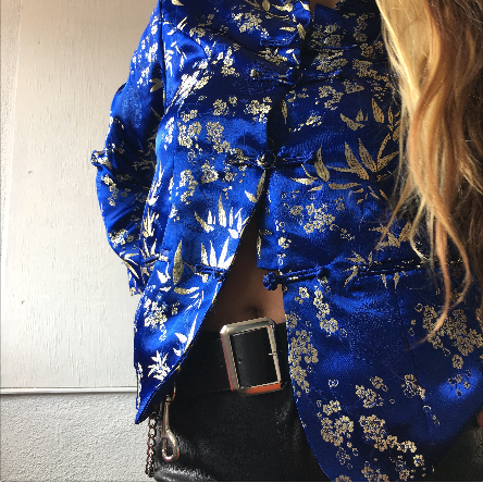 Asian Gold and Blue Jacket