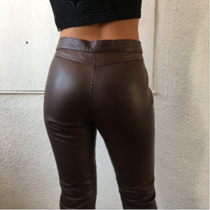 ralph lauren sport brown leather pants