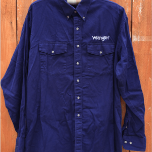 Wrangler logo big and tall button up