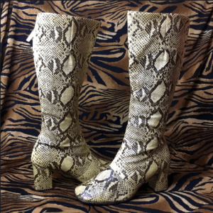 w. Germany MAde Continental snakeprint gogo boots
