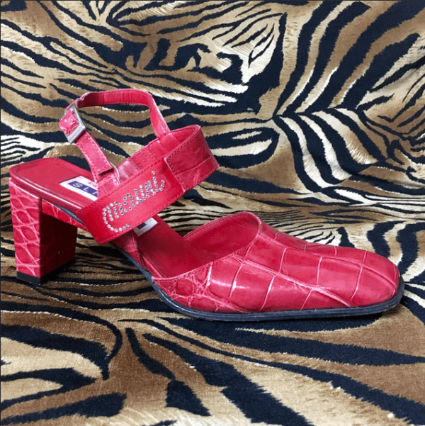 crocodile skin mauri sandals size 8