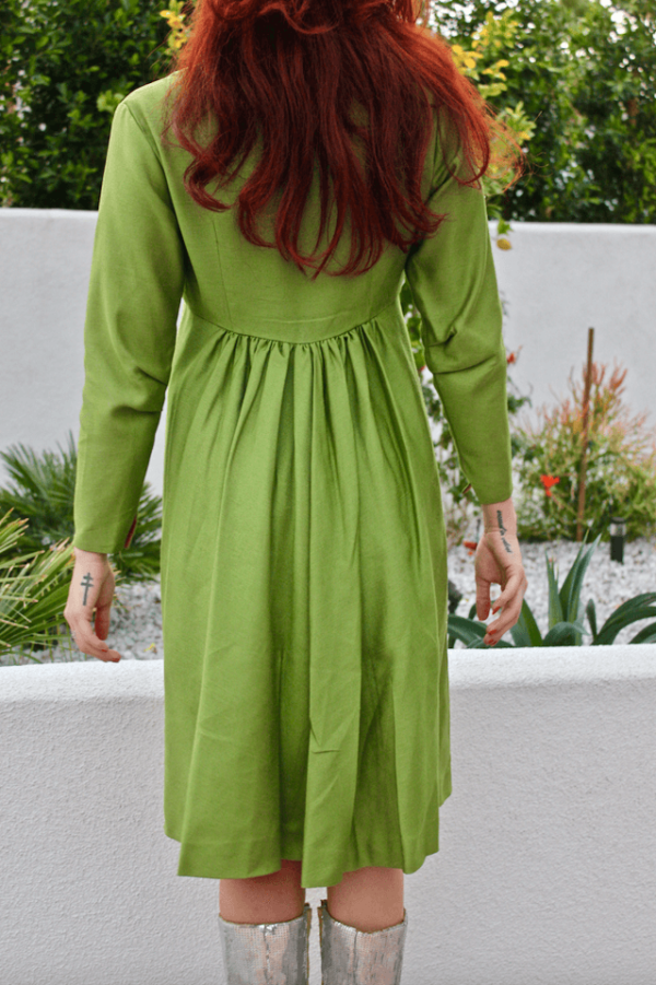 60s Green Coat with bow