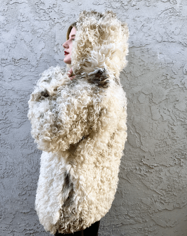 mongolian lamb tibetan lamb shaggy sheep fur coat