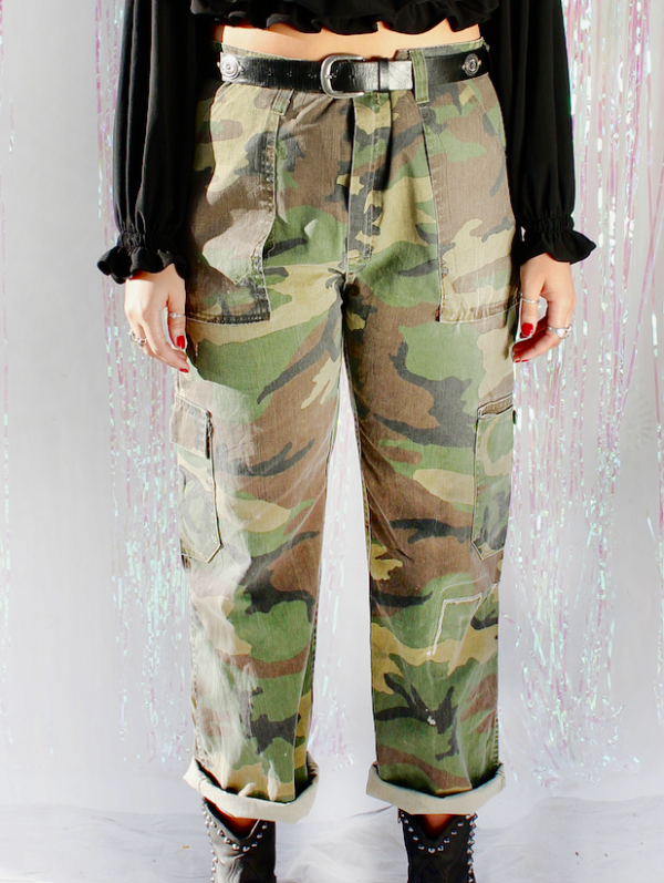 Vintage Camo Pants Military Army Marines Cargo Pants