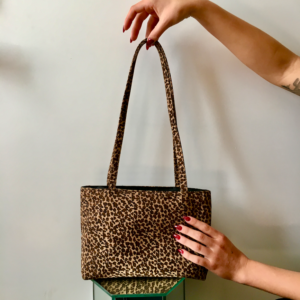 90s Cheetah Print Purse with Magnet Closure