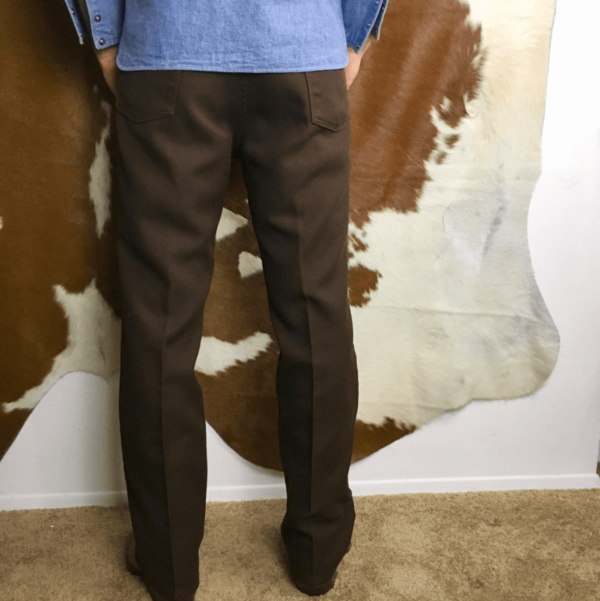 Mens 70s Brown Wrangler Trousers Boot Cut